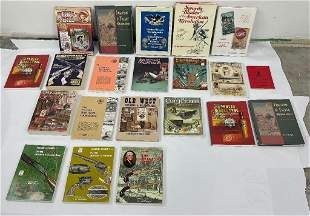 Large Lot of Sporting Goods Collectibles Books