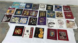 Large Lot of Coin Collecting Auction Catalogs
