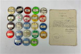 Lot of Washington Arms Collectors Badges