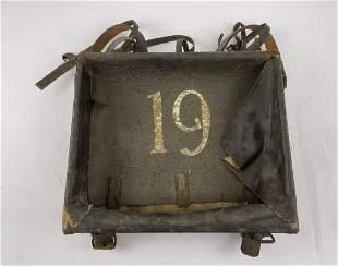 Civil War 19th Infantry Regiment Leather Haversack