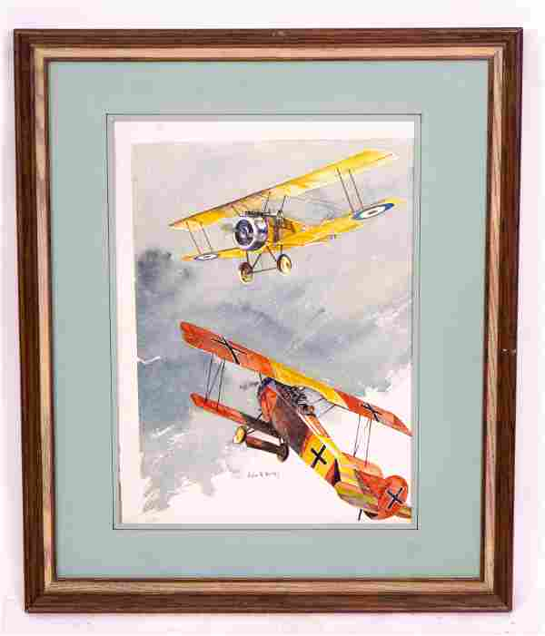 Print of World War I Biplanes by John W. Hurley