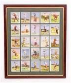 Framed Collection of Vintage Wills Cigarettes Golf