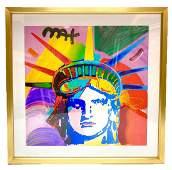"""""""Liberty VI"""" Peter Max Original Mixed Media"""