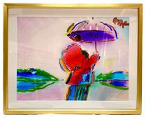 """Walking in the Reeds"" Peter Max Original Mixed Media"