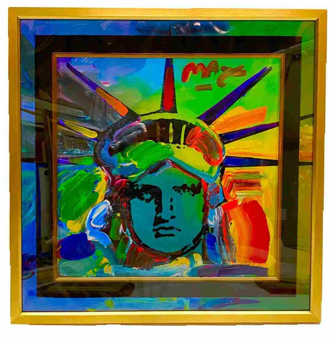 """""""Liberty V"""" Peter Max Original Mixed Media"""