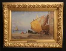 """WALTER L DEAN  (1854 - 1912 MA)  """"CHIOCCIA, ITALY"""""""