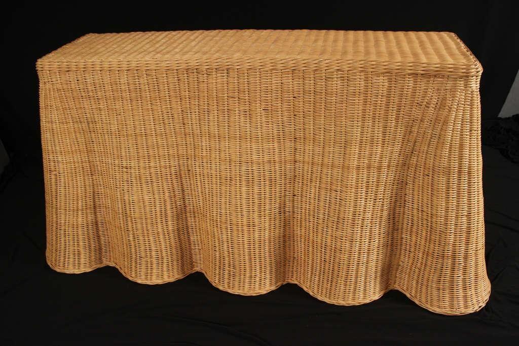 "SAVANNAH RATTAN CONSOLE TABLE by WILDWOOD 64"""