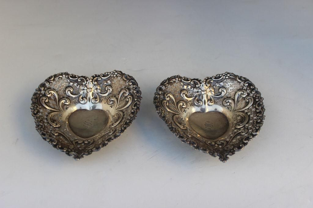 GORHAM STERLING HEART DISHES