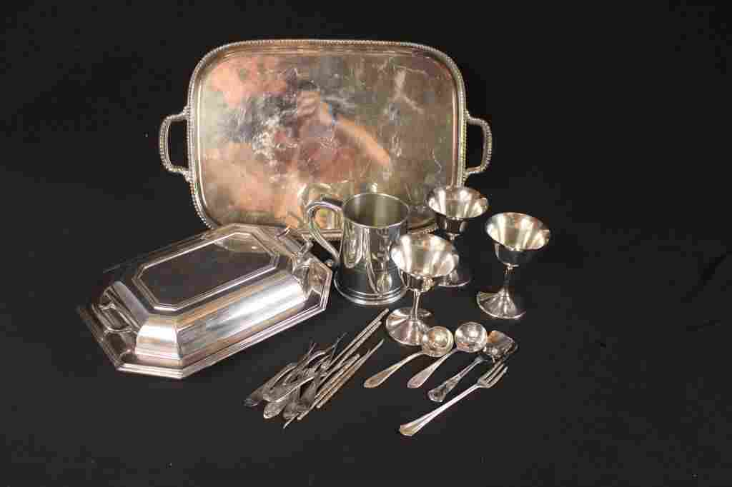 SILVER PLATE GROUPING