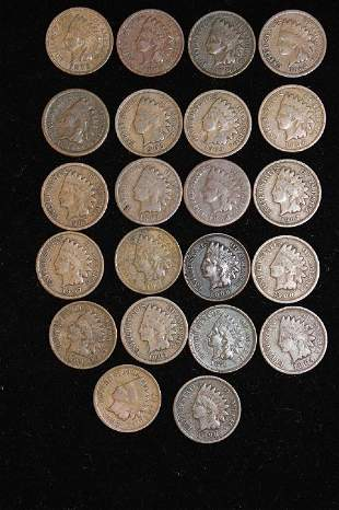 US Cents (22) Indian Head Cents