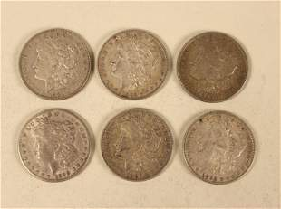 6 - Morgan Silver Dollars
