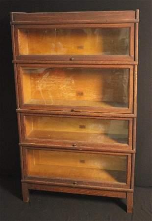 Set of Oak Barrister Bookcases