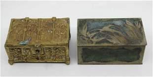 Brass Casket Box  & Mid Century Box