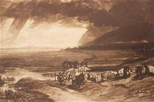 Frank Short Print Highlands, Etching