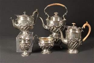 English 5 Piece Sterling Silver Tea Service