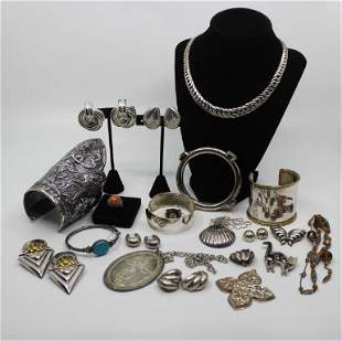 Silver Jewelry & Ornament Grouping