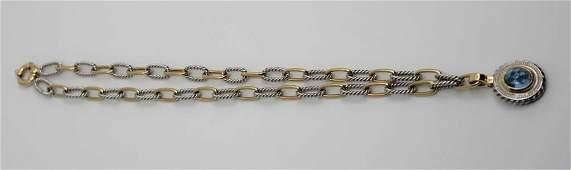 14K Yellow & White Gold Italian Necklace