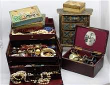 Boxes of Estate Costume Jewelry