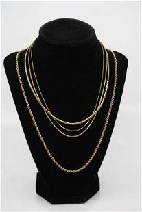 Grouping of 14K Gold Chains
