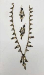 10K Victorian Set, 14K Gold Bracelet