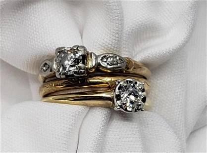 14K Yellow Gold Diamond Engagement Rings