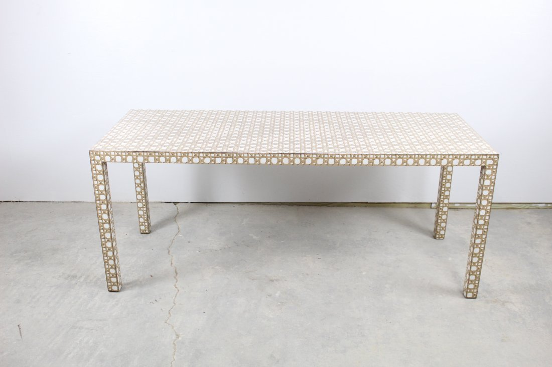 Faux Caned Formica Table