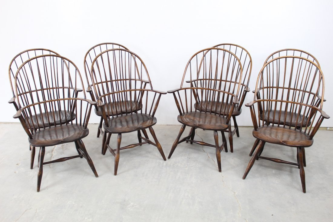 Set of 8 Windsor Chairs