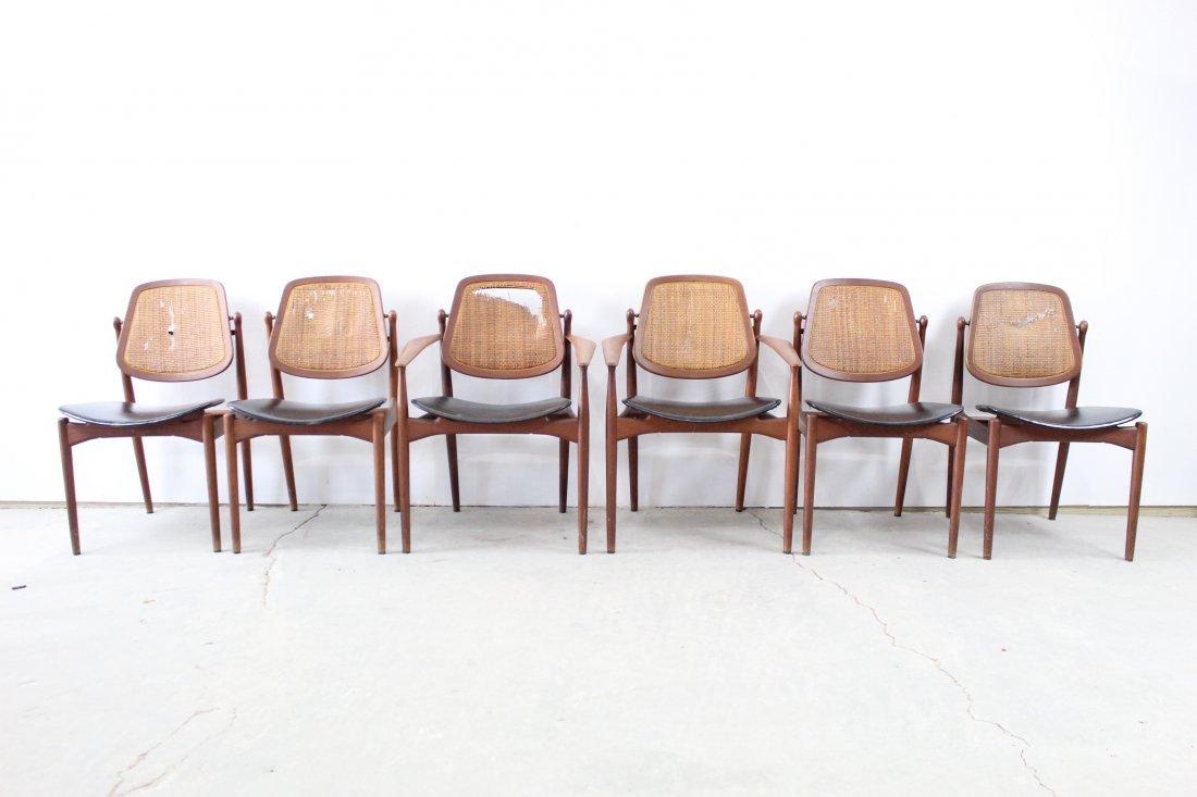 Set of 6 Danish Modern Arne Vodder Teak Dining Chairs