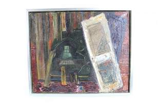 Abstract Painting of a Demolished Building, 1955