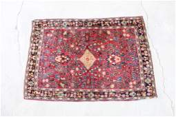 Antique Oriental Rug with Center Diamond 39in x 58in