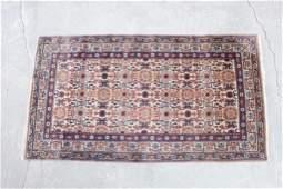 Antique Oriental Rug, Tan Base, 47in x 64in