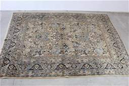 Huge Oriental Rug with White and Tan, 99in x 141in