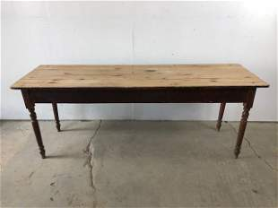 Authentic Antique Farm Harvest Work Table,7-Foot Long