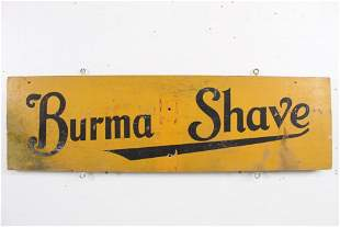 """Antique Painted Wood """"Burma Shave"""" Sign,Trumps Your Ace"""
