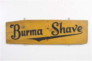"""Antique Painted Wood """"Burma Shave"""" Sign,Ten Knots Out"""