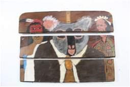 Earl Swanigan Outsider Art Painting of a Koala and Men