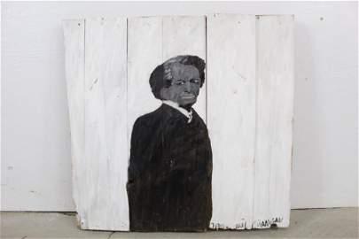 Earl Swanigan Outsider Art Painting Frederick Douglass