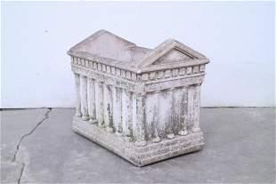 Stone Parthenon Planter Container Garden Sculpture
