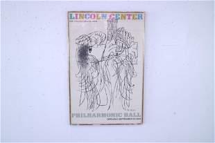 Frame Ben Shahn Lincoln Center Philharmonic Poster 1962