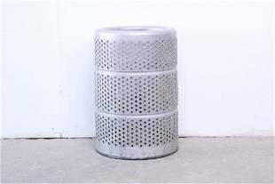 Industrial Aluminum Garbage Can, Mid Century Modern