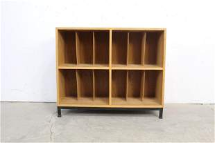 Mid Century Modern Record Cabinet w/Metal Base,3of3