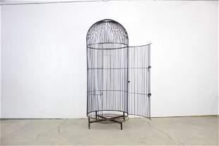 Wrought Iron Human Sized Birdcage,Mid Century Modern