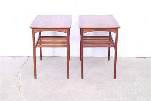 Pair of Danish Mid Century Modern Side Tables