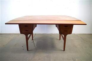 Danish Mid-Century Modern Wood Desk & Dining Table
