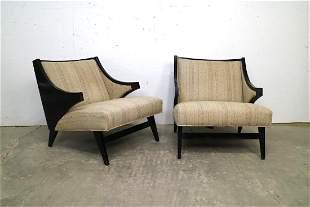 Pair of Mid Century Modern Boomerang Lounge Chairs