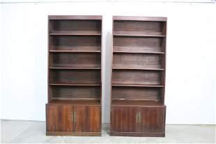 Pair of Book Shelves,Hollywood Regency Asian