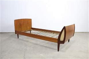 Mid Century Modern Danish Wood Twin Bed Frame 1of2