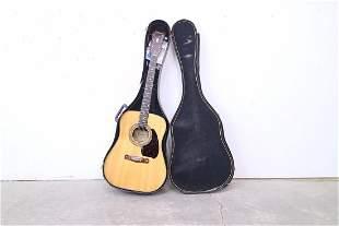Acoustic Steel String Cimar Inlaid Light Wood Guitar