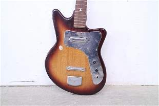 Wood Body Electric Guitar w/ Curved Shape, Strap & Case