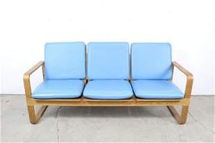 Mid-century Thonet BentPlywood Couch Sofa Blue Cushions